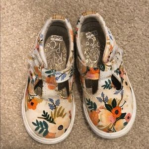 rifle paper co + keds mary jane tennis shoes